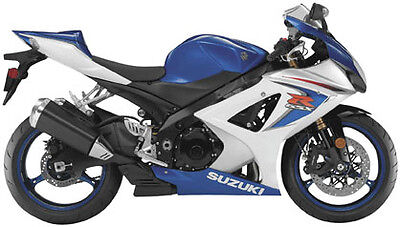 NewRay Die-Cast 1:12 Scale Motorcycle GSX-R1000 Blue/White 2008