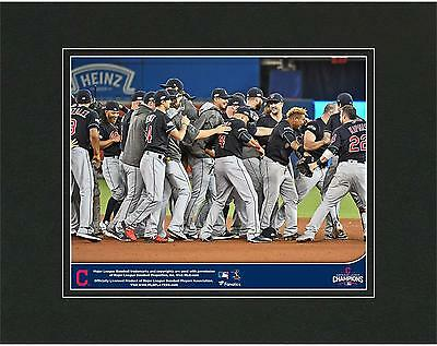 """Cleveland Indians 2016 MLB American League Champions 8"""" x 10"""" Matted Photo"""