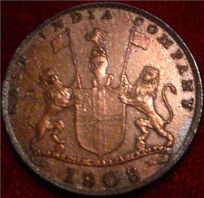 Scarce 1808 10 Cash East India Company British India**km319** Cleaned**