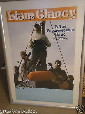 Liam Clancy & Fayerweather Band Concert Gig Poster 1988 Unreleased Poster Rare