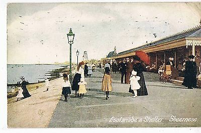 KENT - CPC - ESPLANADE AND SHELTER, SHEERNESS, c1908