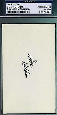 Don Hutson Psa/dna Hand Signed 3X5 Index Card Authentic Autograph