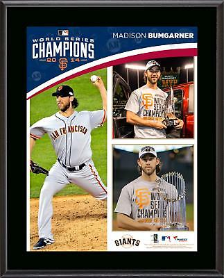 Madison Bumgarner SF Giants 2014 World Series Champs 10.5x13 Sublimated Plaque