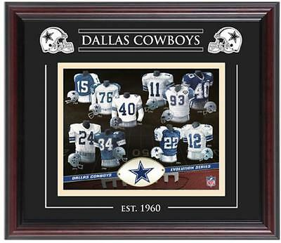 Dallas Cowboys Framed Evolution Collage Fanatics Authentic Certified