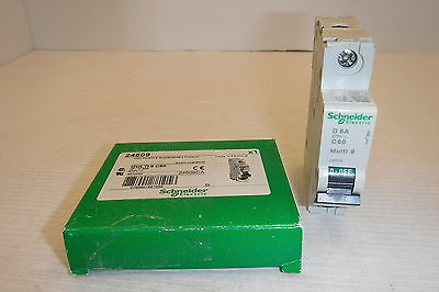 Schneider Electric Multi 9 C60 D 6A 277V Circuit Breaker Nib