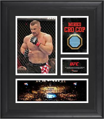 Mirko Cro Cop UFC Framed 15x17 Collage w/ Match-Used Canvas Piece from UFC 67