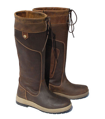 Waterproof Rhinegold Vermont Long Leather Country Boot UK3 to UK8 STD & WIDE