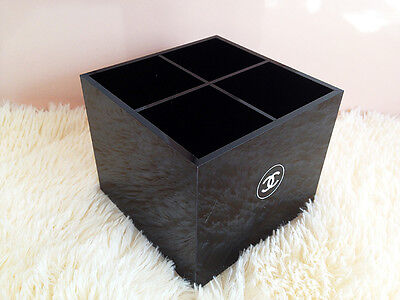 Chanel VIP Gift Makeup Brush / Pencil Holder Organize Acrylic Box Decoration