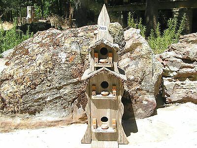 Large Barnwood Birdhouse Tall 3 story 29 Inches 2429