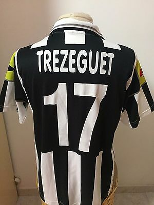 Maglia calcio Juventus 2000 01 n 17 Trezeguet no match worn shirt trikot France