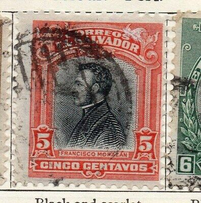 El Salvador 1912 Early Issue Fine Used 5c. 120584