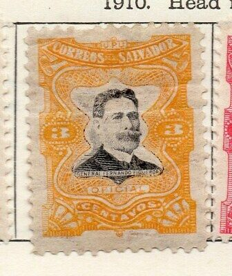 El Salvador 1910 Early Issue Fine Mint Hinged 3c. 120614