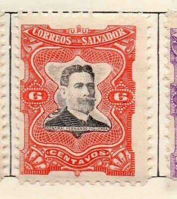 El Salvador 1910 Early Issue Fine Mint Hinged 6c. 120617