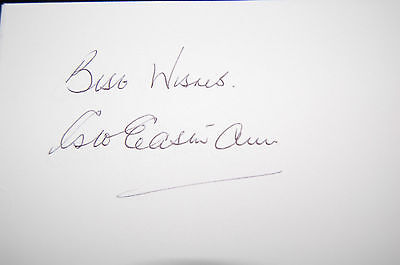 1966 World Cup George Eastham Signed White Card