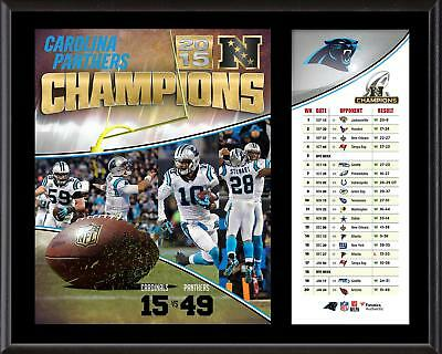 "Carolina Panthers 2015 NFC Conference Champions 12"" x 15"" Sublimated Plaque"