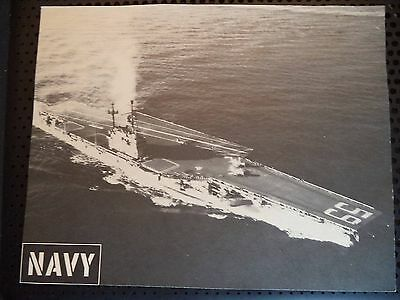 Vintage B&W Photo WWII Print USN Navy Aircraft Carrier Number 59 Military