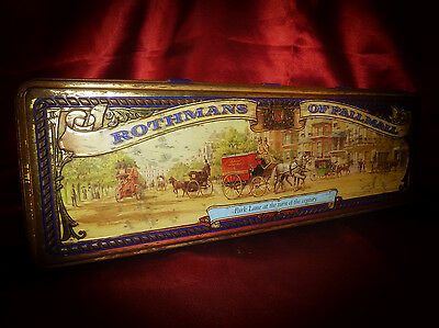 Vintage ROTHMAN'S OF PALL MALL Rare Cigarette TIN Tobacciana Advertising 200cigs