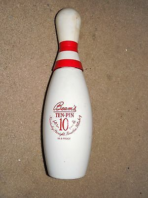 "Jim Beam Bowling Pin Alcohol Bottle Used 12"" Tall Empty"