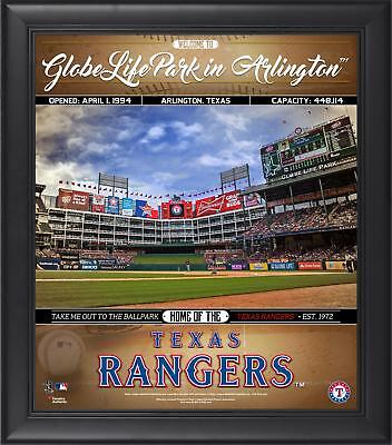 """Texas Rangers Framed 15"""" x 17"""" Welcome to the Ballpark Collage"""