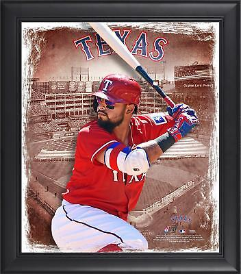 "Rougned Odor Texas Rangers Framed 15"" x 17"" Playmakers Collage"