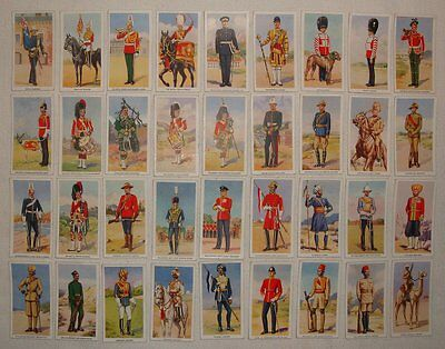 Godfrey Phillips Cigarette Cards: Soldiers of the King, 1939, Full Set of 36