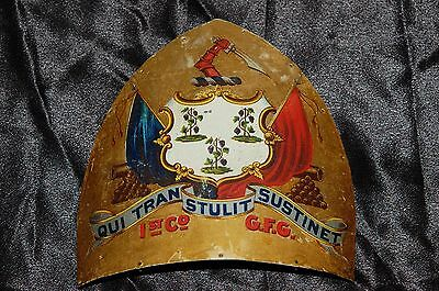 1st Connecticut Governor's Foot Guards Painted SHAKO PLATE (Badge)
