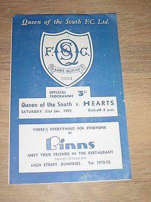 1958/59 Queen Of The South V Hearts