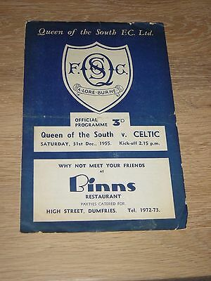 1955/56 Queen Of The South V Celtic