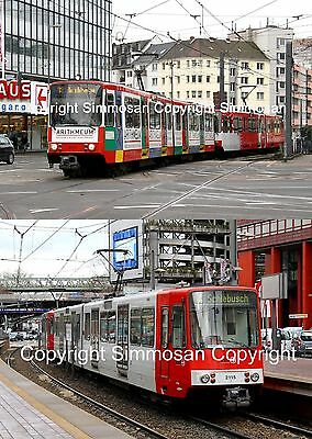 7x5in GLOSSY TRAMWAY PHOTOGRAPHS X 2 - COLOGNE TRAMS 8372 & 2115