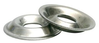 Stainless Steel Flange Cup Finishing Washer # 8, Qty -100