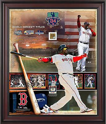 David Ortiz MLB Red Sox Framed 20x24 Collage with 2016 Final Season Ball & Dirt