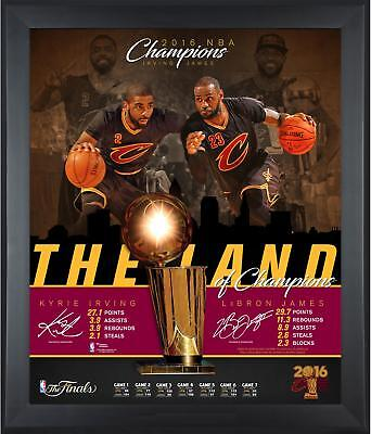 LeBron James Kyrie Irving Cavaliers Framed 20x24 Collage Fanatics Authentic COA