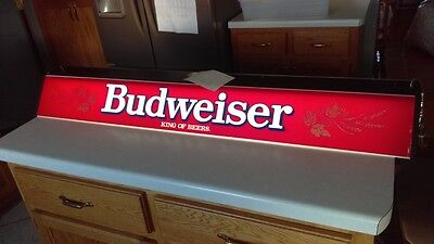 Vintage 1982 Budweiser Beer Illuminated Pool Table Light (New In Box) Never Used