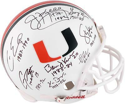Miami Hurricanes Multi-Signed Riddell Pro-Line Helmet w/ Mult Years Played Inscs