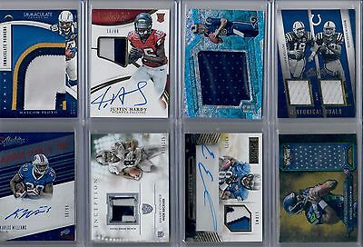 Football Game Used Auto Jersey Rookie Patch Sp Insert Rc Hot Pack 20 Card Lot
