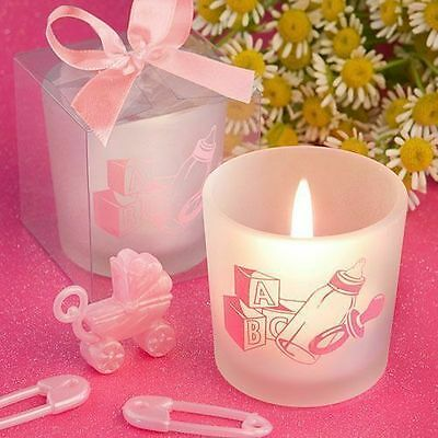 40 - Baby Girl Themed Candle Shower Favors - Free US Shipping