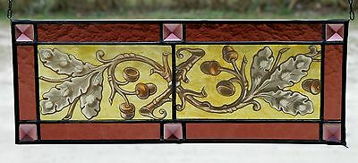 Leaded glass Window image Screening Oak leaves Brisevue classical