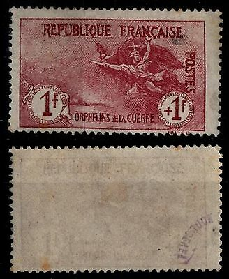 Hommage aux ORPHELINS, Neuf * = Cote 500 € / Lot Timbre France n°154
