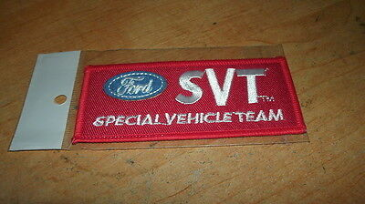 Ford Mustang Svt Special Vehicle Team Red Blue Patch Mustang Cobra Lightning Red