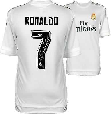 Cristiano Ronaldo Real Madrid Autographed 2015-16 Home Jersey