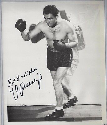 Max Schmeling Autographed 8x10 Photo JSA COA German Boxing Champion dec 2005
