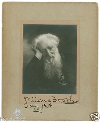 WILLIAM BOOTH Signed Photograph - Salvation Army / Minister & Social Reformer