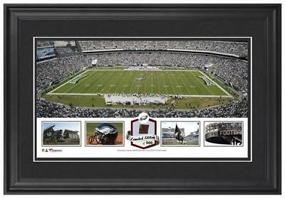 Lincoln Financial Field Philadelphia Eagles Framed Collage & Game-Used Football
