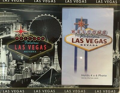 Las Vegas Strip Sign Picture Frame Casino Hotel Photo Glass Linq MGM High Roller