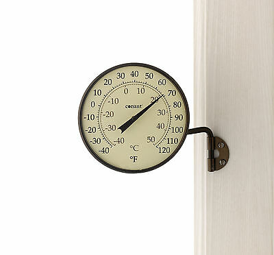 Conant Dial Thermometer Bronze Patina Finish for Indoor or Outdoor Use