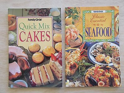 2 x Family Circle S/F Cookbooks~Quick Mix Cakes & Seafood~Recipes~