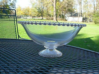 IMPERIAL CANDLEWICK Clear Glass & STERLING SILVER Weighted Bowl/Dish~MAYFLOWER