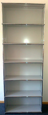 USM Haller Regal Highboard Bücherregal 25cm tief 6 Fächer Lichtgrau (Hellgrau)