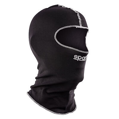 Sparco Softknit Go Kart/Karting/Racing/Motorsport Open Face Balaclava - Black