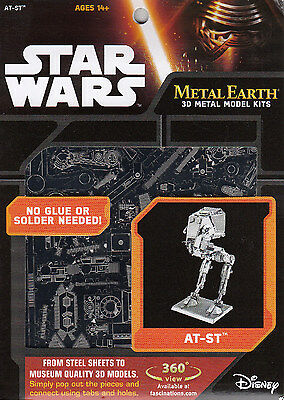 Metal Earth - STAR WARS - AT-ST™   - 3D Laser Cut Miniatur Modell Neu